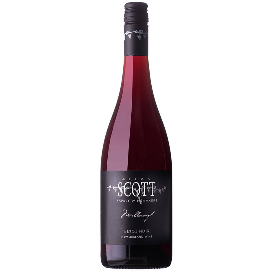 Allan Scott Black Label Marlborough Estate Pinot Noir 2018 (12x 750mL). NZ