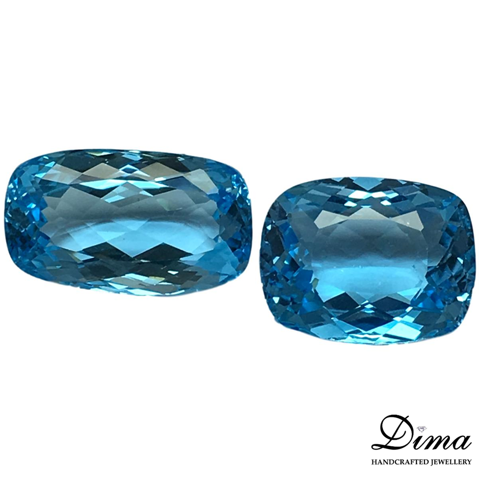 Two Loose Blue Topaz, 67.17ct in Total