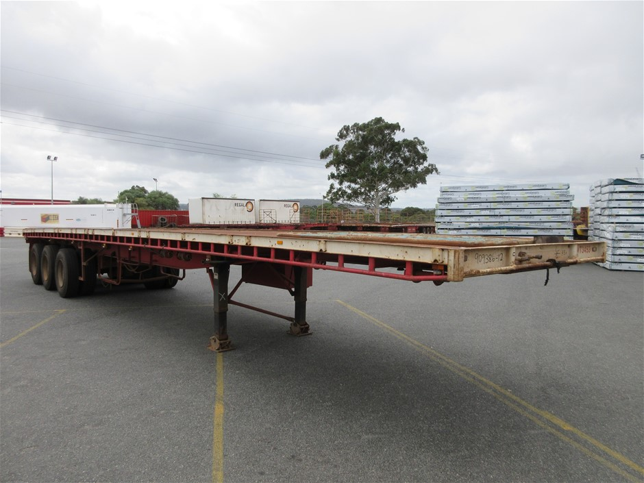 1993 Freighter ST3 45' Triaxle Flat Top Trailer