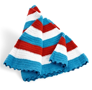 Rug/Throw– red / white / blue