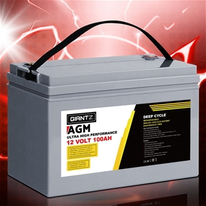 Giantz 100Ah Deep Cycle Battery 12V AGM