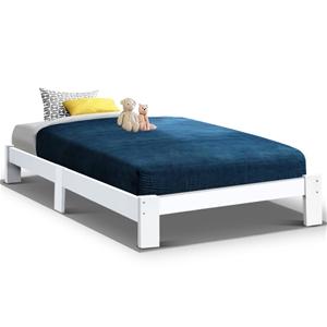 Artiss Bed Frame Single Wooden Bed Base