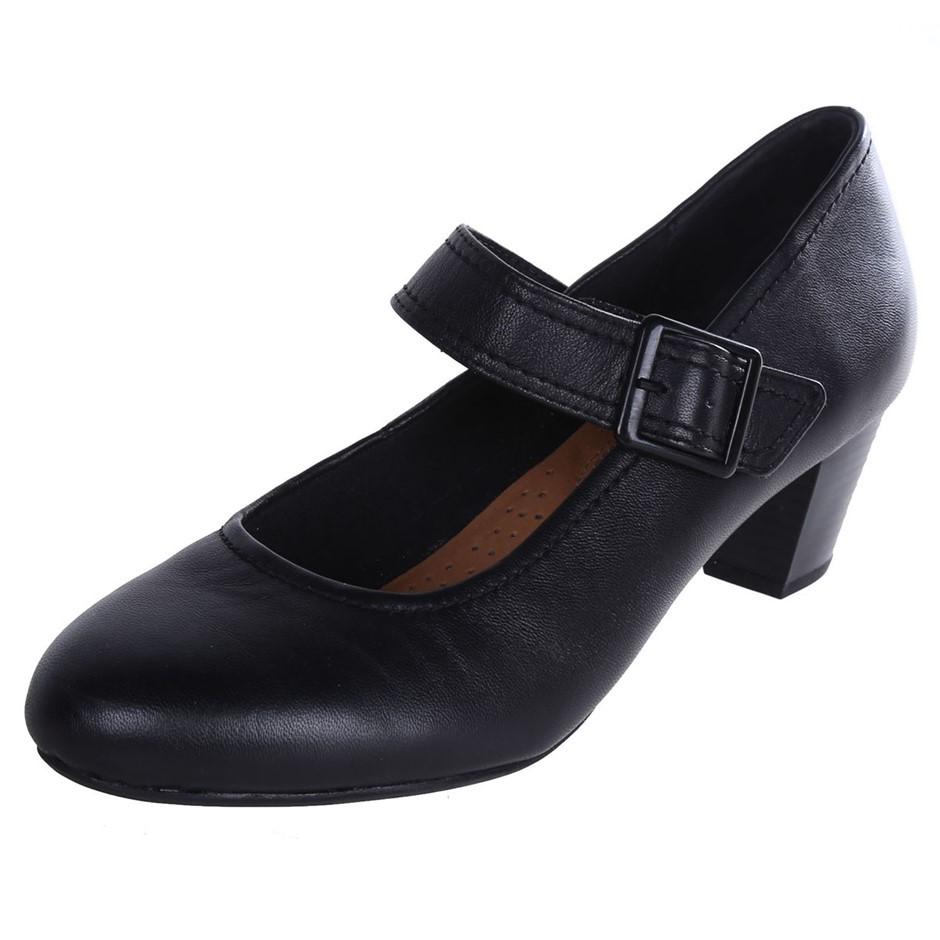 HUSH PUPPIES Women`s Domestic Cactus Heels, Size UK 10, Black. Buyers Note