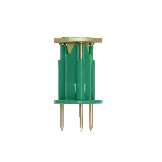 100 x POWERS Wood Knockers Cast-In Rod Hangers M12 Green. Buyers Note - Dis