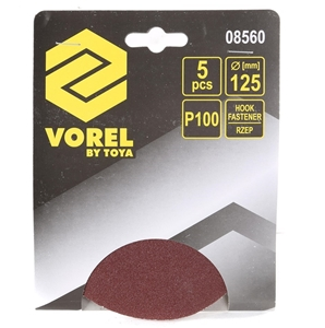 20 x Packs of 5 VOREL Sanding Discs 125m