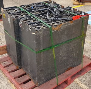 Qty 4 x Unknown Forklift Cell Battery At