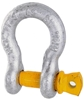 6 x Bow Shackles, WLL 2T, Screw Pin Type, Grade S, Yellow Pin. Buyers Note