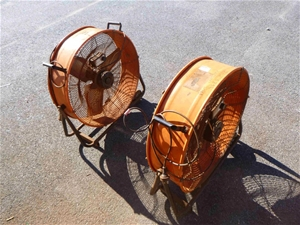 2x 600mm Variable Speed Drum Fans