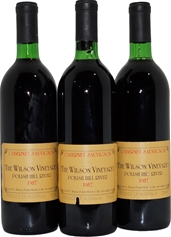 The Wilson Vineyard Polish Hill River Cabernet Sauvignon 1987 (3x 750mL) SA