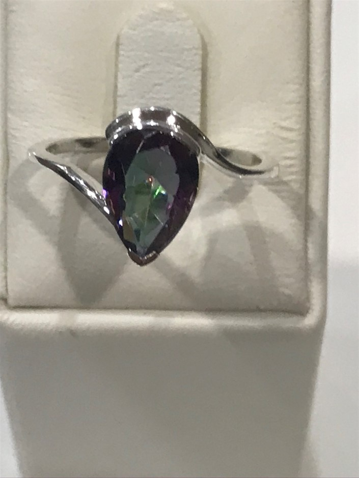 Truly Magnificent 3.50ct Mystic Topaz Ring Size N (7)