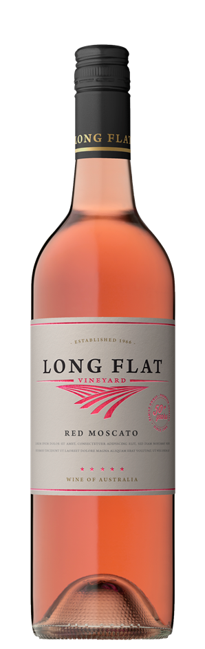 Long Flat Vineyard Red Moscato NV (12x 750mL), South Australia.