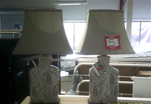 2 x Mayfield Ceramic Traditional Lamps.