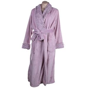 CAROLE HOCHMAN Women`s Long Plush Robe,