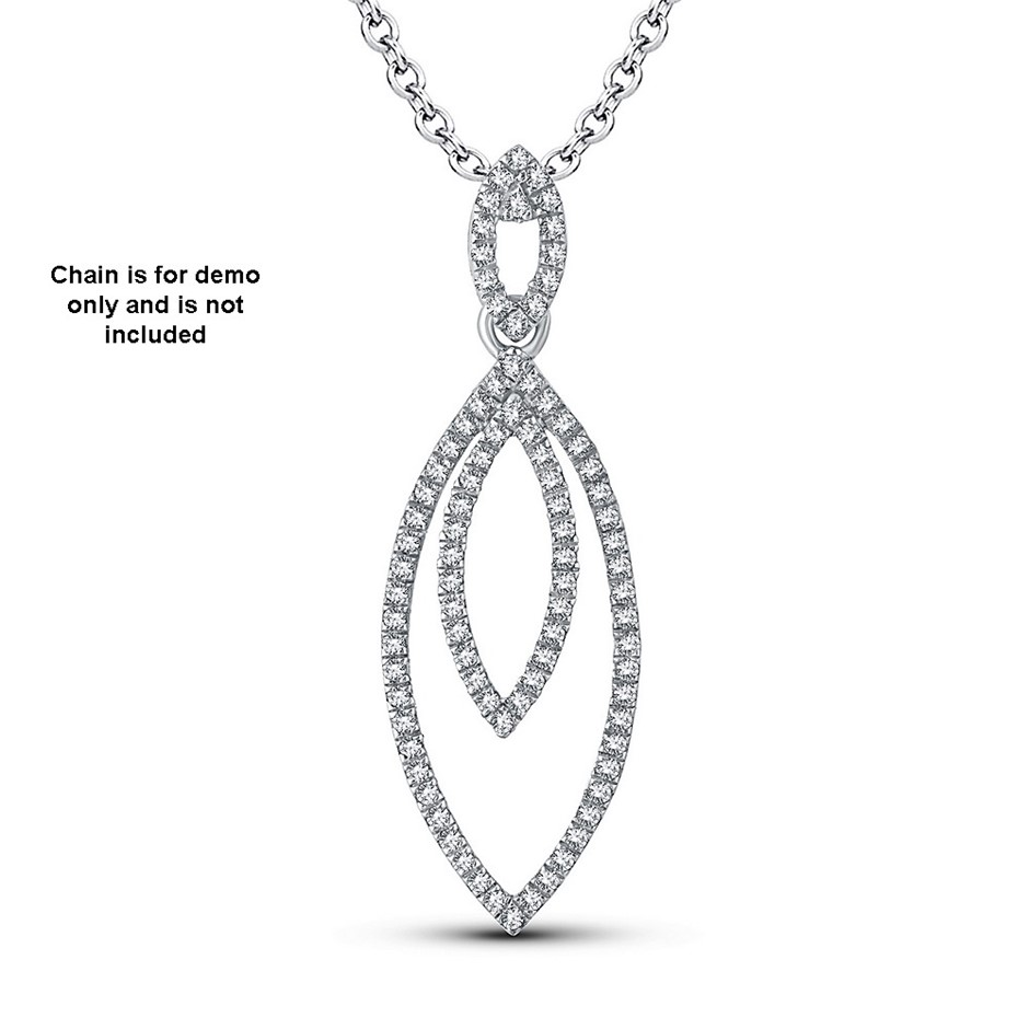 9ct White Gold, 0.12ct Diamond Pendant