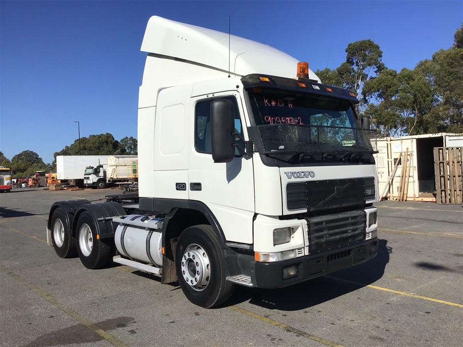 2001 Volvo FM12 420 6x4 Prime Mover Truck - 68,000 kgs