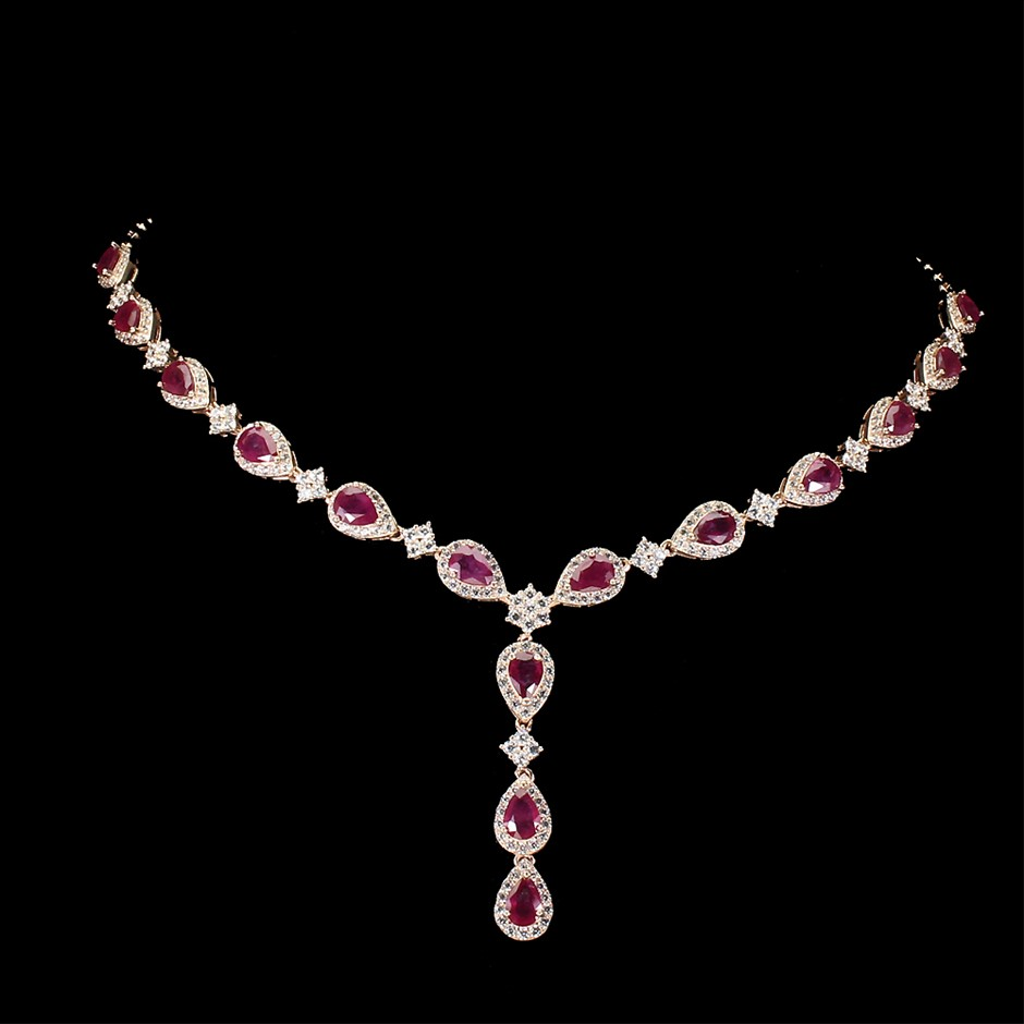 Gorgeous Genuine Ruby Necklace