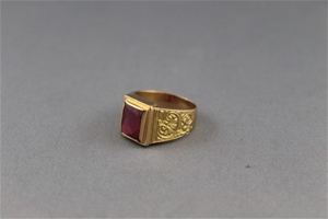 Stamped 18ct Yellow Gold Signet Ring