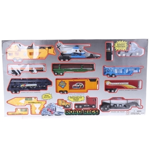 Road Rigs 13pc Toy Set, Battery Operated