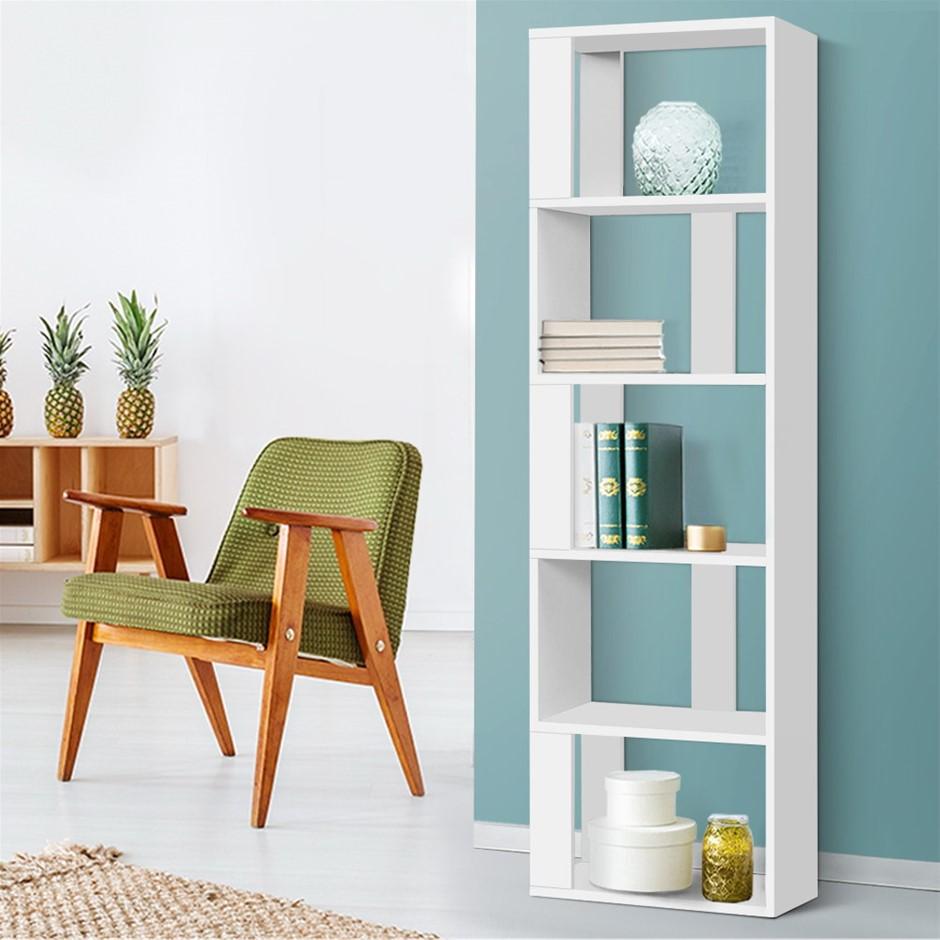 Artiss Display Shelf 5 Tier Storage Bookshelf Bookcase Ladder Stand Rack