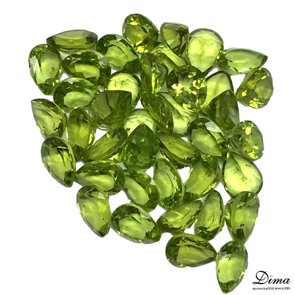 Forty Loose Peridot, 50.07ct in Total