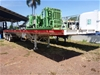 2014 Stone Star ST#0DBDRT Triaxle Extendable / Flat Top Trailer
