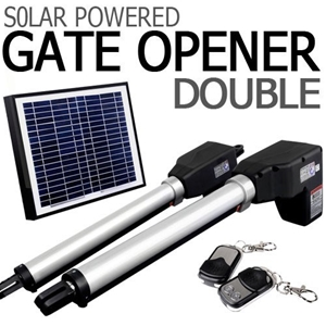 buy solar powered double swing auto motor remote gate opener graysonline australia. Black Bedroom Furniture Sets. Home Design Ideas