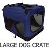 i.Pet Large Portable Soft Pet Carrier- Blue