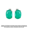 9ct White Gold, 2.37ct Emerald Earring
