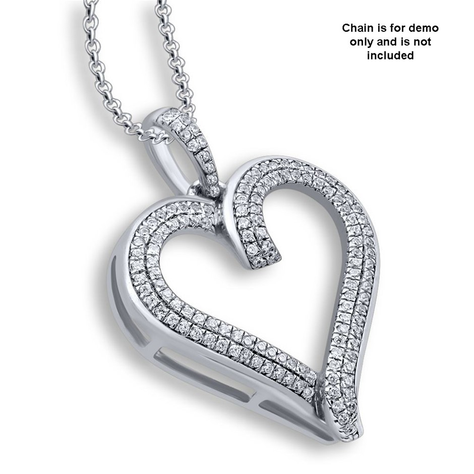 9ct White Gold, 0.19ct Diamond Pendant