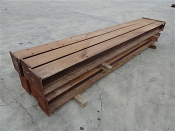 Steel beams with base plates