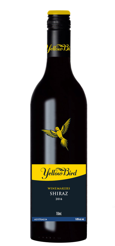 Yellow Bird Shiraz 2016 (12 x 750mL) SEA