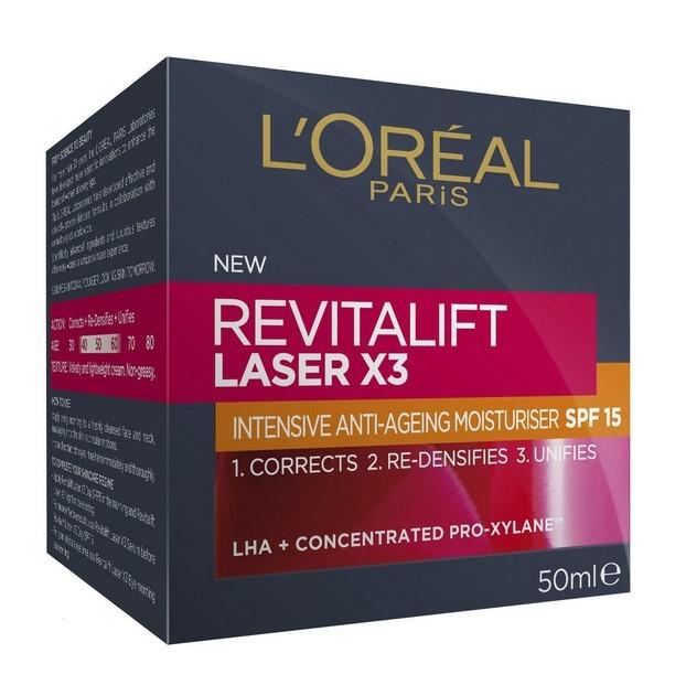 L`OREAL Paris Revitalift Laser X3 Night Cream Mask, 50ml. Buyers Note - Dis