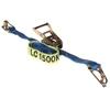 3 x Tie Down Assemblies, Ratchet Type, 35mm x 5M, L/C 1500kg c/w Hook & Kee