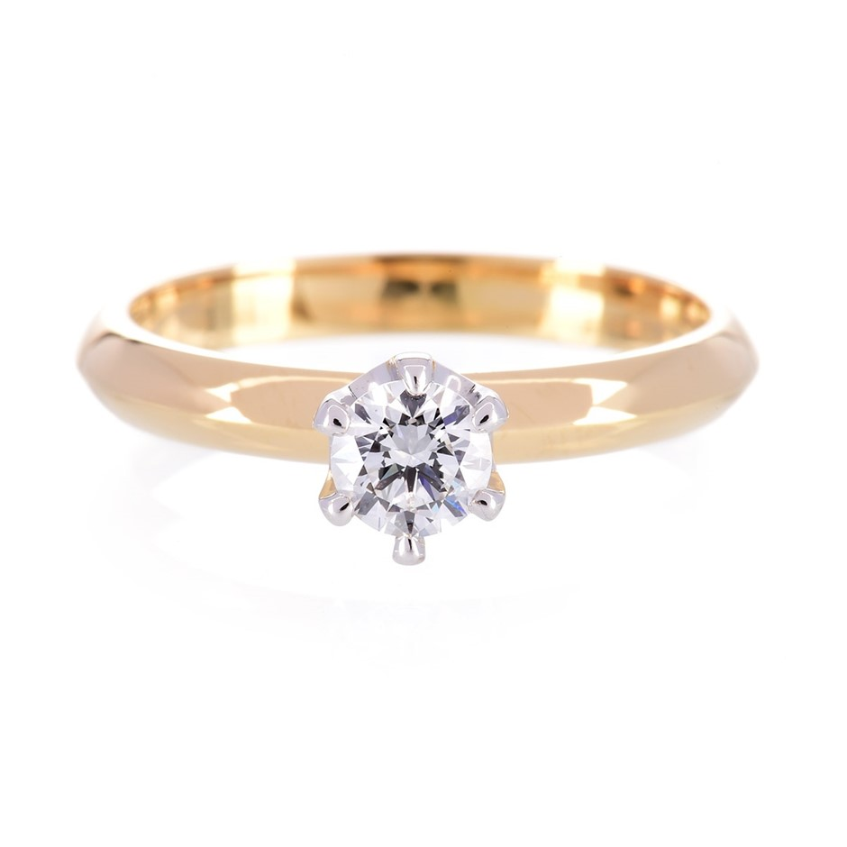 ERV $5100 - One ladies 18wyg solitaire engagment ring TDW=0.40ct