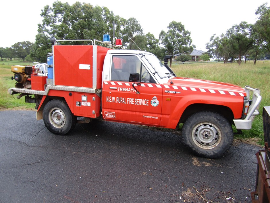 RFS Nissan Patrol Ute with Fire Unit tray