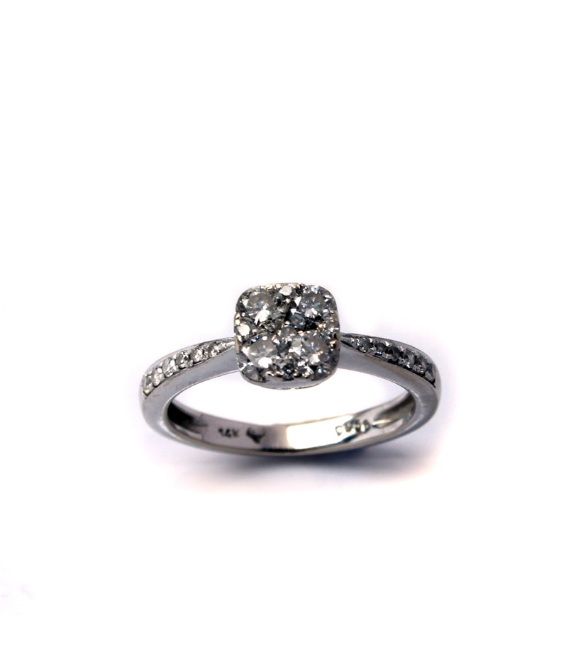 14ct White Gold, 0.56ct Diamond Ring