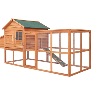 i.Pet Chicken Coop Coops Wooden Rabbit H