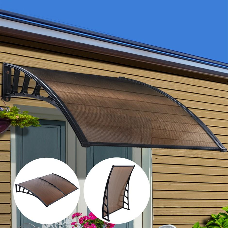 Instahut Window Door Awning Door Canopy Patio Cover Shade 1.5mx2m DIY BR