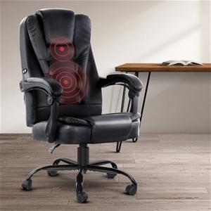 Artiss Electric Massage Office Chairs PU