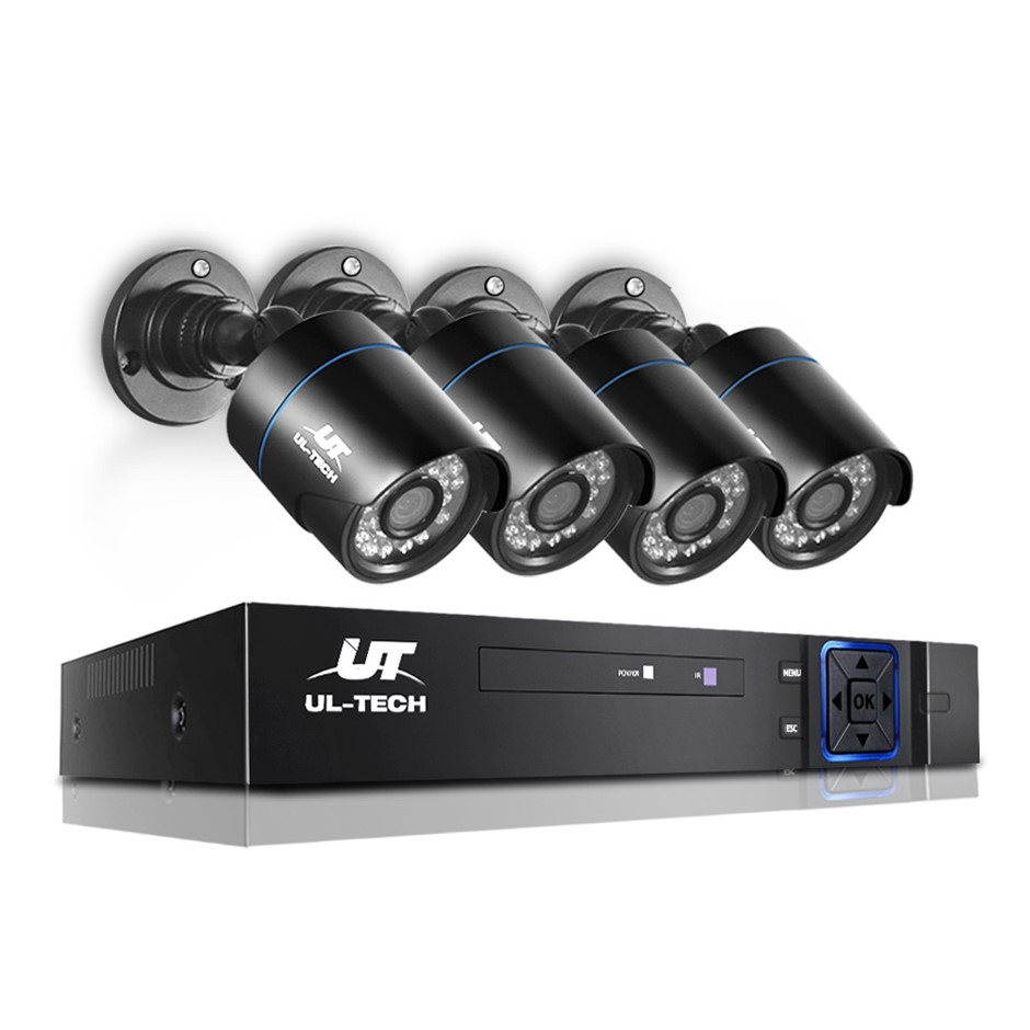 UL-tech CCTV Home Security System 8CH DVR 1080P Camera Day Night IP Kit