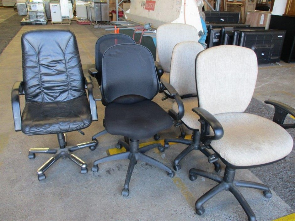 Qty 6 x Office Gas Lift Chairs