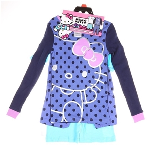 2 x Hello Kitty 4pc Sleepwear Sets, Size