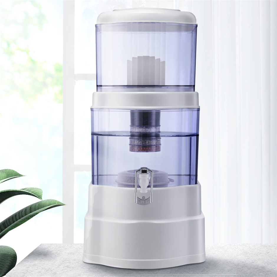 Ceramic Water Purifier 7 Stage Dispenser Bench Top 22L Cartridge