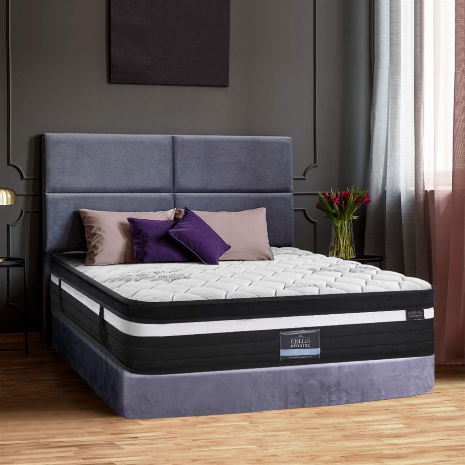 Giselle Bedding Super Firm Mattress Queen 7 Zone Pocket Spring Foam 28cm