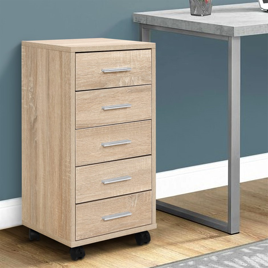 5 Drawer Filing Cabinet Storage Drawers Wood Office School File Cupboard