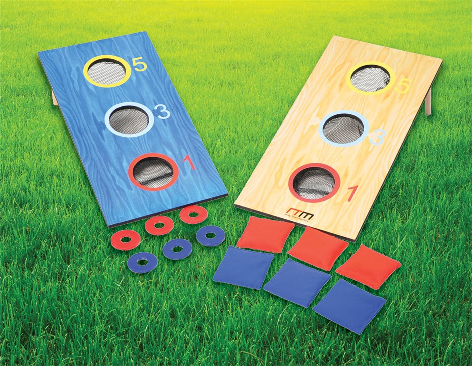 2-in-1 Three-Hole Bags and Washer Toss Combo Cornhole Portable Games