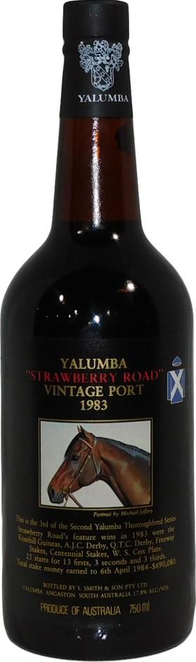 Yalumba Thoroughbred Strawberry Road Port 1983 (1 x 750mL) SA. 5 Star Prov