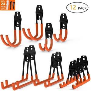 12-Pack Wall Mount Garage Hooks Tool Sto