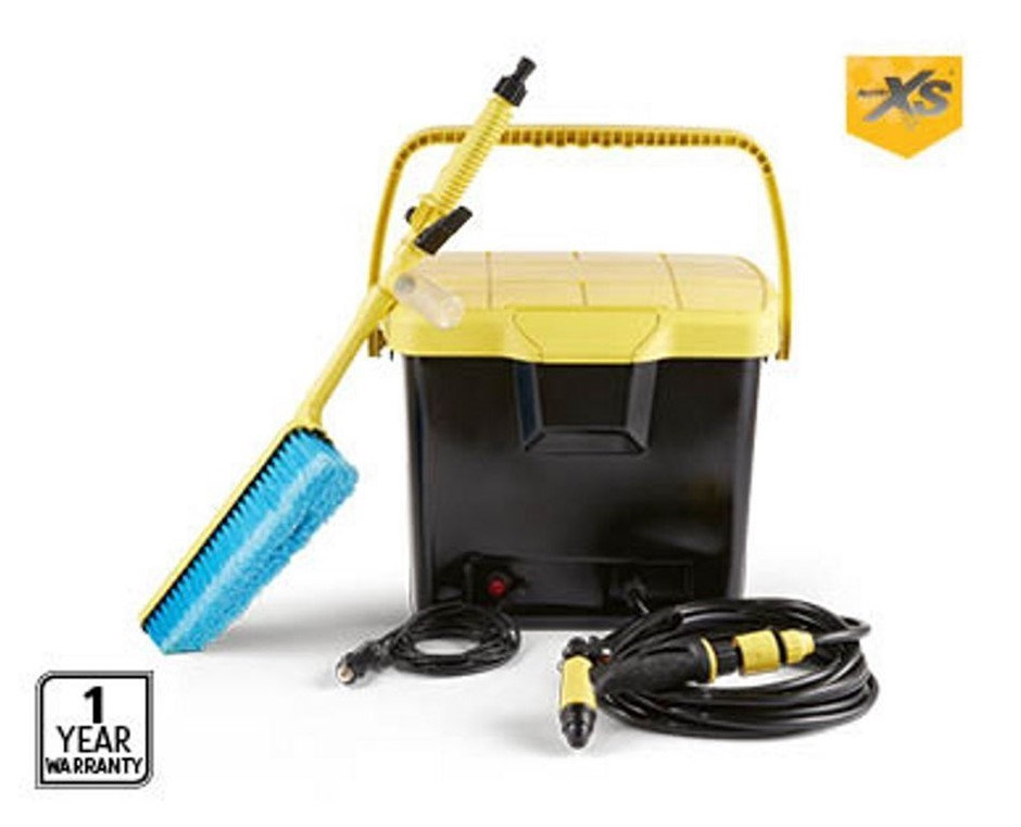 Leading Retail Brand Portable Pressure Washer w/ Built-in 12V DC Pump, 16L