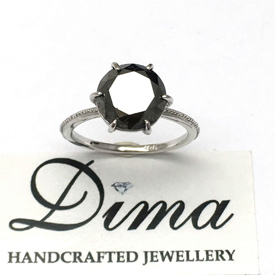 18ct White Gold, 3.65ct Diamond Ring